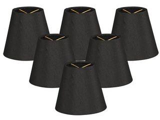 Royal Designs Black 5 inch Hardback Empire Chandelier lamp Shades  Pack of 6