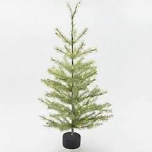 Martha Stewart 36in Pine Needle Glitter larch Tree with lights Warm White
