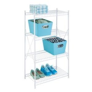 Honey Can Do 5 Shelf Steel Storage Shelving Unit  White