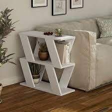 Saphire Wood 2 Shelf Modern Coffee Table