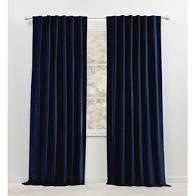 Pair of lauren Ralph lauren Velvety Back Tab Rod Pocket Curtain Panel
