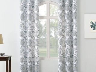 PAIR OF No  918 Yuto Medallion Floral Grommet Curtain Panel