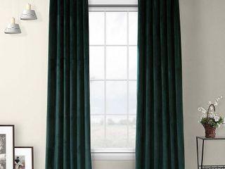 PAIR OF Exclusive Fabrics   Furnishings Heritage Plush Velvet 50  x 84  Curtain Panel