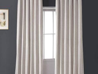PAIR OF Exclusive Fabrics Signature Ivory Velvet Blackout Curtain Panel