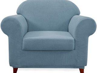 Subrtex Stretch Armchair Slipcover 2 Piece Spandex Furniture Protector