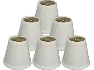 Royal Designs White 5 inch Hardback Empire Chandelier lampshades  Set of 6