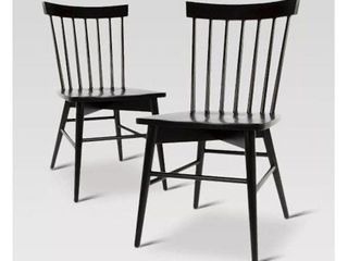 Single Windsor Dining Chair in Black