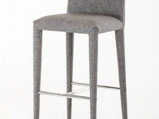 Modrest Medford Mid Century Grey Fabric Bar Stool