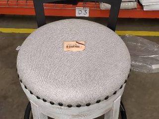 Valeback Upholstered Swivel Barstool