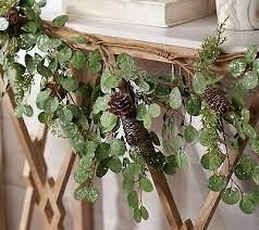 4 foot Frosted Eucalyptus and Cedar Garland by Valerie