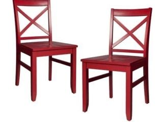 Single Carey Dining Chair   Brick Red