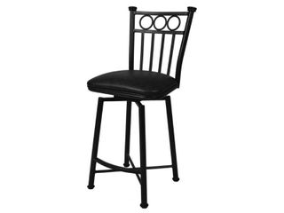Bar Stools Collection 26  Counter Height Matte Black Metal Bar Stool by Pastel Minson