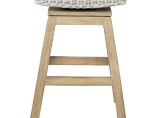 East at Main White Counter Height Swivel Bar Stool