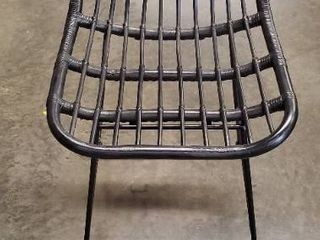 linnet Rattan with Metal legs Counter Height Barstool