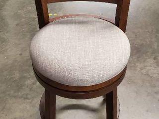 Heartwood 24  Swivel Bar Stool Upholstery  Gray