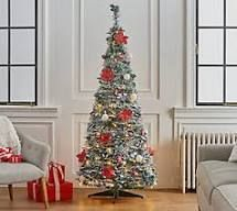 Barbara King 6 foot Pre lit Decorator Pop Up Tree with Poinsettia Gold