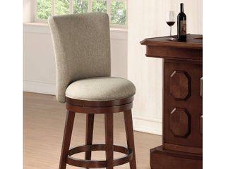Davila Upholstered Counter Height 24  Swivel Bar Stool