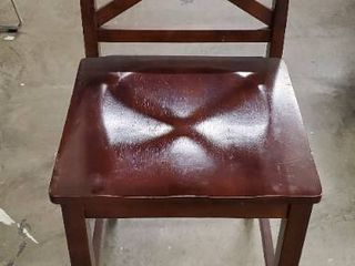 latitudes Ginger and Chestnut X Back Counter Chair