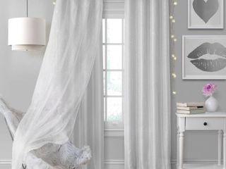 PAIR OF Elrene Aurora Kids Room Darkening layered Sheer Curtain