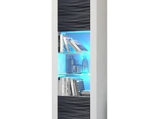 Milano Matte lED Bookcase w  High gloss Front  Retail 276 99