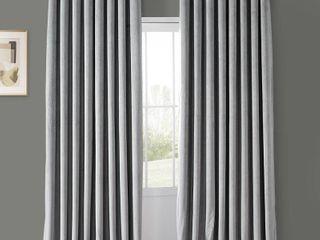 PAIR OF Exclusive Fabrics Signature Velvet Extra Wide Grommet Blackout Curtain  Retail 126 82