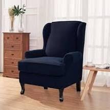 Enova Home Elegant Super Stretch Jacquard  Navy Blue