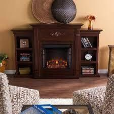 Griffin Fireplace with Bookcases  Espresso  Box 3 of 3  One Bookcase Only