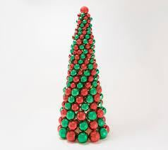 Kringle Express 36 in lit Ornament Tree Red Green