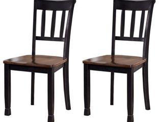 Owingsville Dining Room Chair   Set of 2   Black Brown  Retail 142 49