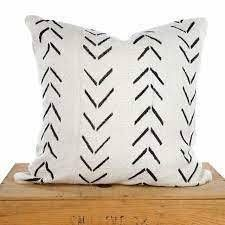 Rizzy Home Southwest Patterned White Black Wool blend 18 inch Woven Throw Pillow