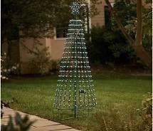 As Is Santa s Best 360 Degree 7  light Show Pixel Tree w  Remote