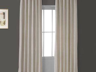 PAIR OF Exclusive Fabrics Heritage Plush Velvet Curtain Panel