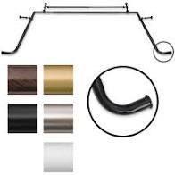 Pinnacle Bay Window 1 inch Diameter Double Curtain Rod