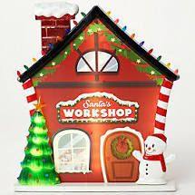 Mr  Christmas Oversized Scenic Illuminated Blow Mold Workshop
