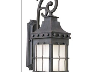 Maxim 86084 Nantucket 23  1 light Fluorescent Wall Sconce   Country Forge   Frosted Seedy