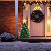 Mr  Christmas 36 in Indoor  Outdoor Blow Mold Nostalgic Tree Green