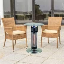 EnerG  HEA 14756 lED Bistro Style Table with Electric Infrared Heater Tower Retail 294 67