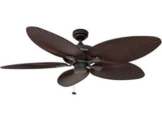52  Honeywell Palm Island Bronze Ceiling Fan with Palm Blades Retail 130 83