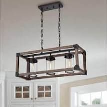 RUSTIC 3 light KITCHEN ISlAND PENDANT 29 5 inches l x 10 8 inches W x 51 2 inches Retails for  227 99