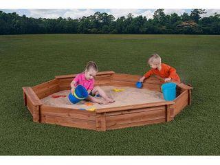 Creative Cedar Designs Octagon Sandbox with Cover  7  x 6 5  x 9  Retail 111 99