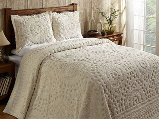 Better Trends Rio King Bedspread 120 in  X 110 in  Natural
