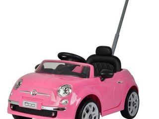 Fiat 500 push car Pink