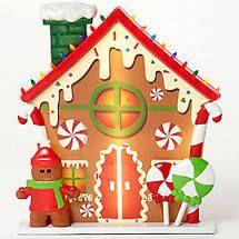 Mr  Christmas Oversized Scenic Illuminated Blow Mold Gingerbread
