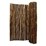 Black Bamboo Panel Fencing 4ft H x 8ft