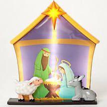 Mr  Christmas Oversized Scenic Illuminated Blow Mold Nativity