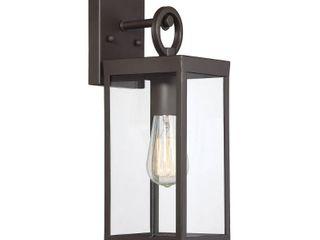 Filament Design 1 light Oil Rubbed Bronze Outdoor Wall lantern Sconce