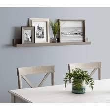 Porch   Den Bear Solid Colored Wood Modern Floating Wall Shelf