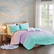 TWIN TWIN Xl Sparkle Metallic Glitter Printed Reversible Comforter Set by Mi Zone