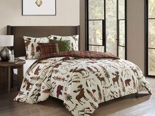 Nanshing Winter 5 Piece Reversible Comforter Set  Beige  Queen