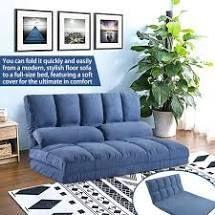 Merax 5  Position Adjustable Folding Floor Sofa   Blue